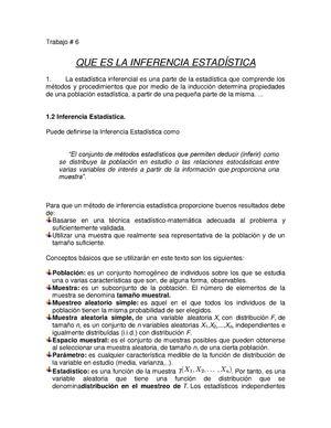 Calaméo - Trabajo No#6 Que Es La Inferencia Estadistica
