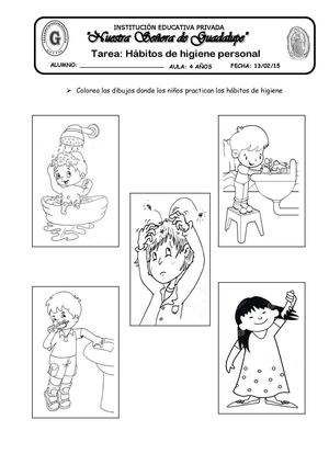Calaméo Tarea Habitos De Higiene Personal