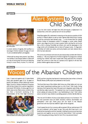 Uganda: Alert System to Stop Child Sacrifice | Albania: Voices of the Albanian Children