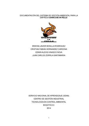 Calaméo - Plantilla De Estrucrurar Sga De La Empresa Giancche In Pelle