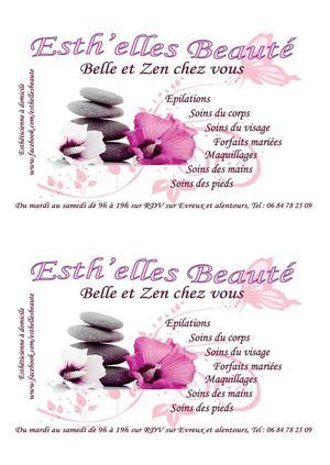 Carte Visite Et Fidelite Esthelles Beaute Estheticienne A Domicile Evreux