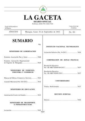 Calaméo - 181 Gaceta, Lunes 24 De Septiembre 2012
