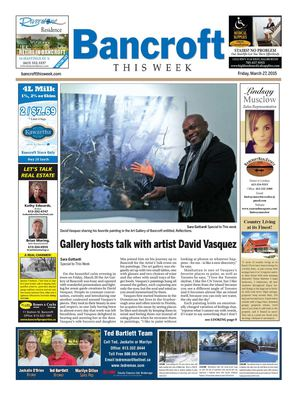 Bancroft This Week March 27, 2015