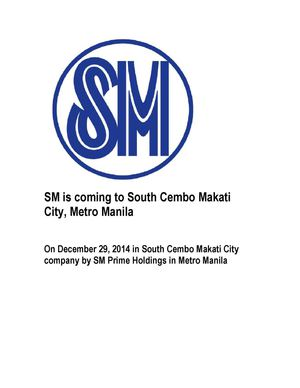 Sm Is Coming To South Cembo Makati City, Metro Manila