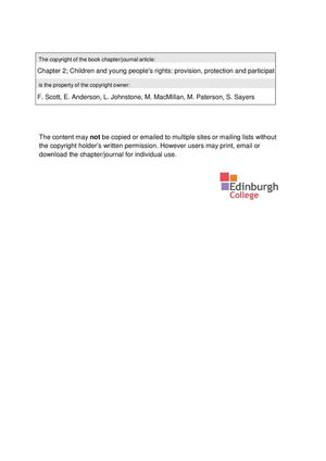 Calamo Hnc Early Ed And Childcare For Scotland Ch 2