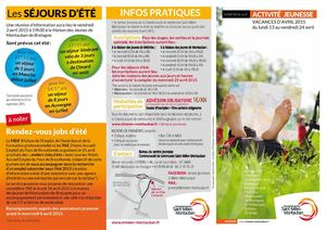 flyers vacances Avril 2015