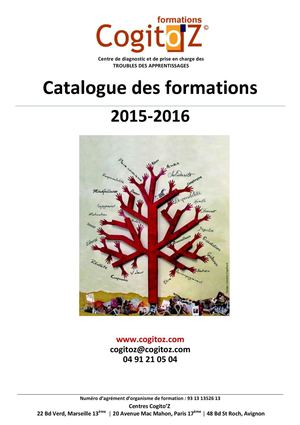 Catalogue Formations Cogito'Z 2015-2016