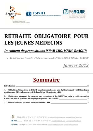 Document de proposition - Retraite et affiliation propositions