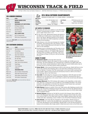 2014 Wisconsin Track & Field Notes