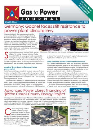 Gas to Power Journal - Weekly News - 99 - 2015 April 10