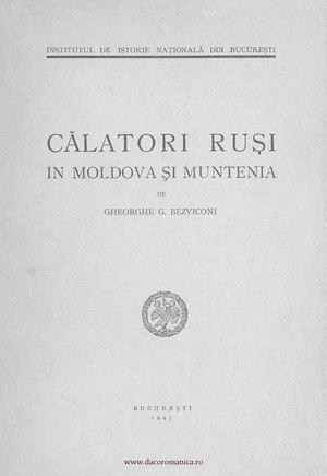 Calameo Călători Ruși In Moldova și Muntenia