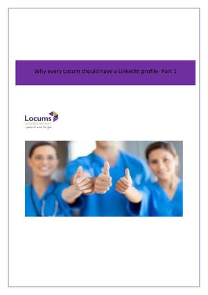 Why Every Locum Should Have A Linked In Profile Part1