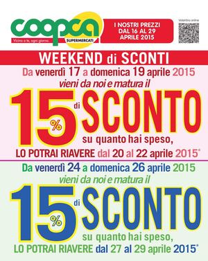 Coopca Super Veneto 16apr 29apr