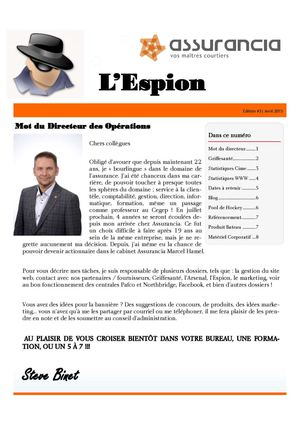 L'Espion, édition avril 2015