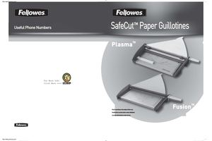 Fellowes 5411102 Plasma Trimmer 40 SheeTS Metal Base 30 18 X 14 12 Manual