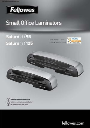 Fellowes Saturn 3i 125 Laminator With Pouch Starter Kit Manual