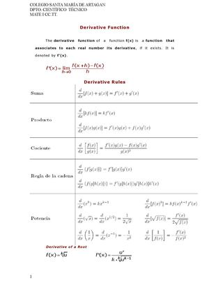 Derivative Function