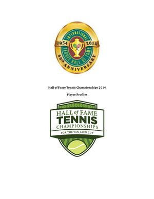 Hall of Fame Tennis Championships - Player Profiles