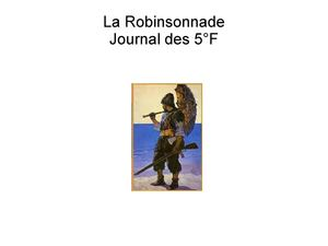 Journal de Robinson 5°F