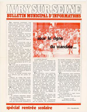 Bulletin municipal d'information - septembre 1975