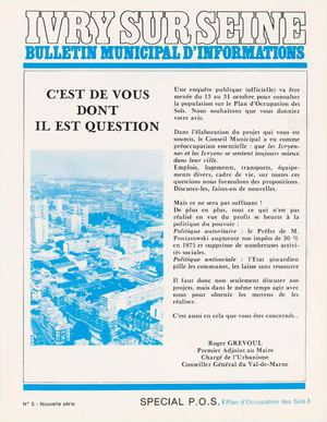 Bulletin municipal d'information - octobre 1975