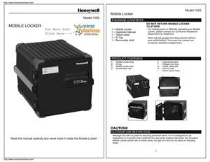 Honeywell 1550 Mobile Storage Locker Manual