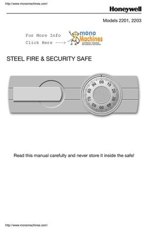 Honeywell 2201 Combination Fire Safe Manual