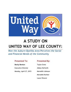 A Study on United Way of Lee County