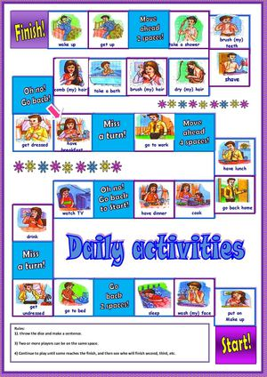 Daily Activities Board Game