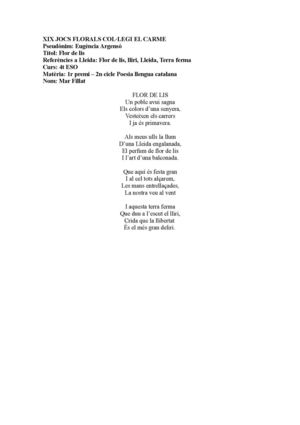 1r Poesia Catalan 4t ESO