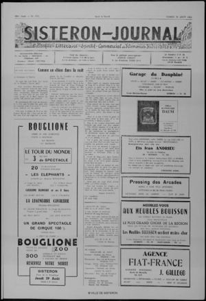 Le Sisteron Journal du 24/08/1968