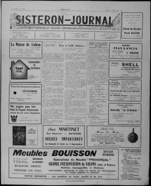 Le Sisteron Journal du 21/08/1971