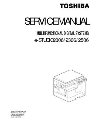 calam o service manual 2506 sm en rh calameo com toshiba e studio 181 service manual free download Toshiba Remote Manuals
