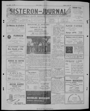 Le Sisteron Journal du 12/08/1978