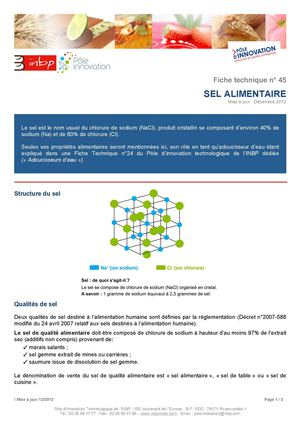 Sel Alimentaire