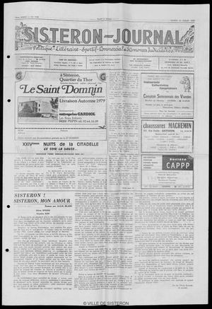 Le Sisteron Journal du 21/07/1979