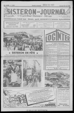 Le Sisteron Journal du 28/05/1983