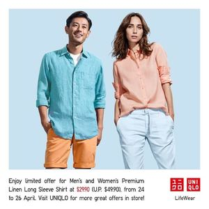 38b23de6ea5 Grab Mens Womens Premium Linen Long Sleeve Shirt For Only 29 90 At Uniqlo  From 24