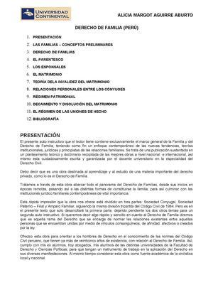 Calaméo Derecho De Familia Perú