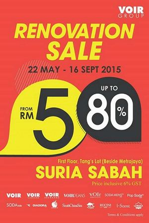 Enjoy Renovation Sale With Up To 80 Off At Voir Valid From 22 May 16 September 201566473 66473