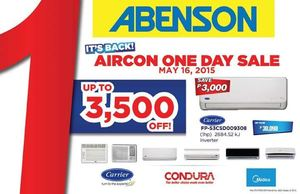 Enjoy Up To P3500 Off On Aircons At Abenson Available Only On May 16 201566500 66500