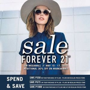Save Up To P1000 With Minimum Purchase Of P3500 At Forever 21 Valid From May 15 17 201566503 66503