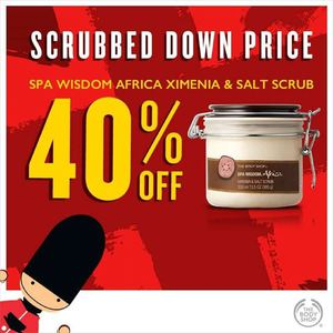 Get 40 Off On Spa Wisdom Africa Ximenia Salt Scrub At The Body Shop While Stocks Last66505 66505