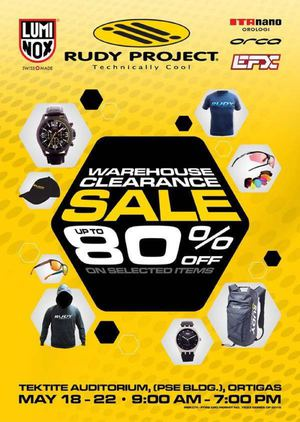 Rudy Project Warehouse Clearance Sale Up To 80 Off At Pse Building Until May 22 201566802 66802