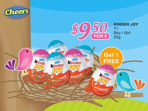 Kinder Joy 5 For 9 50 At Cheers Offers Valid While Stocks Last66826 66826
