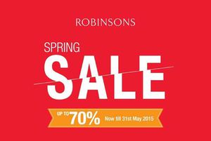 Spring Sale With Up To 70 Off At Robinsons Valid Until 31 May 201566876 66876