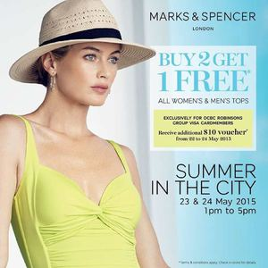 Buy 2 Get 1 Free On All Womens Mens Tops At Marks Spencer Valid On 23 24 May 201566908 66908