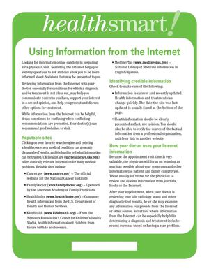 Using Information from the Internet