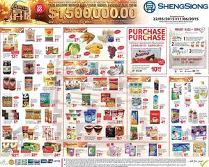 Sheng Siong Mid Year Mega Promotion Valid From May 22 To June 11 201566991 66991