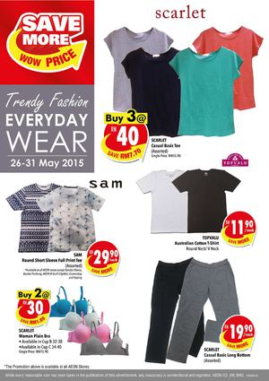 Save More On Trendy Fashion Everyday Wear At Aeon Offers Valid From May 25 31 2015 67653